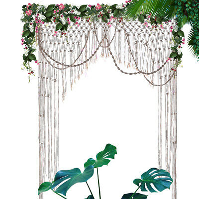 Macrame Woven Wedding Backdrop Curtain Wall Hanging Party BOHO Chic Craft Decor