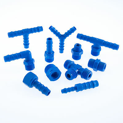 TEFEN Nylon Pipe Fitting Plastic Barbed Pipe Hosetail Joiner Connector Tubing