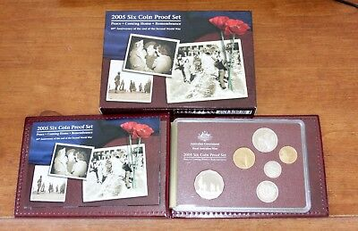 Australian Mint 2005 Six Coin Proof Set - 60th Anniversary of the end of WWII