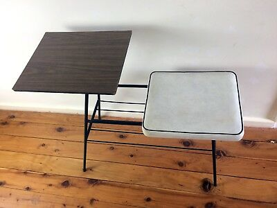 Hypersonic Industries - Telephone Table Seat with Magazine Rack - Vintage Retro