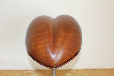 Heart Hat Block Fascinator Form Millinery Vintage Wood - Hutform Holz