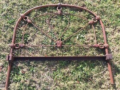 Antique Cast Iron Single Bed End