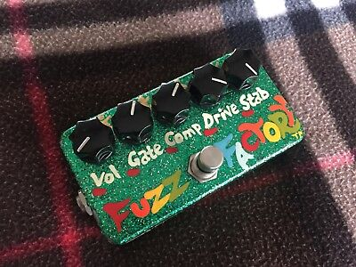 Zvex Fuzz Factory - Custom Green Sparkle made in early 2000