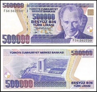 TURKEY 500,000 (500000) Lira, 1993, P-208, aUNC World Currency