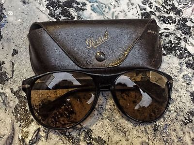 authentic persol ratti meflecto 69245/57 black frame brown glasses new old stock