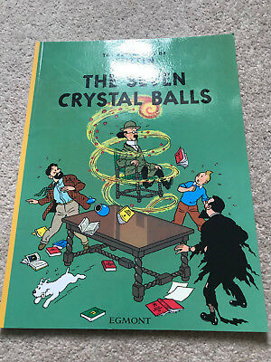 Herge Adventures Of Tintin - The Seven Crystal Balls  2002 Paperback Vgc