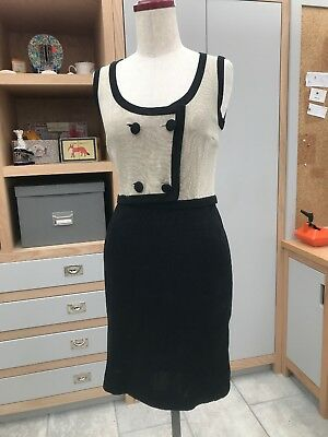 Avagolf Vintage knitted Silk Dress UK6 made in Italy