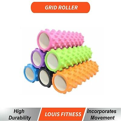 Physio Foam Roller Yoga Deep Tissue & Trigger Gym Exercise Hard Massage Training