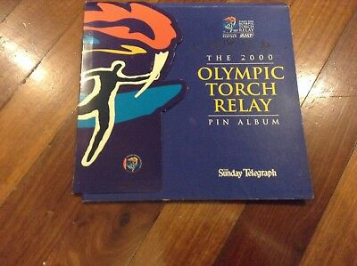 Olympics ,Sydney 2000 Torch relay cover for pins (No pins)