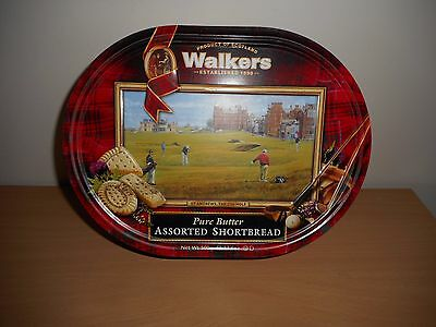 WALKERS ASSORTED SHORTBREAD BISCUIT TIN '' ST ANDREWS THE 17th HOLE ''