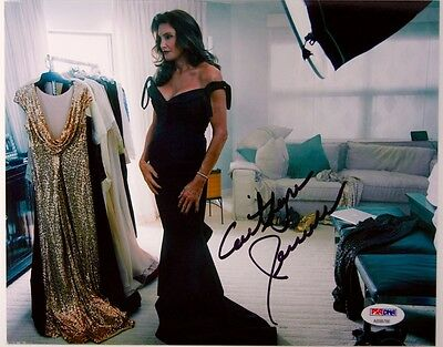 Psa Dna Caitlyn Jenner Signed 8X10 Picture Vanity Fair Auto Photograph Bruce