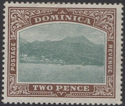 Dominica 1903 2d green & brown, mh
