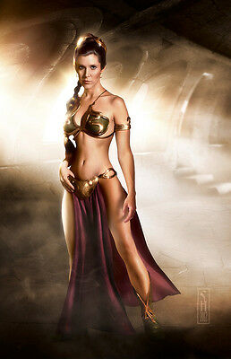 Star Wars Princess Leia Original Art Print signed by artist Scott Harben