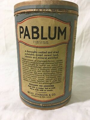 Antique Pablum Container Mead Johnson And Company Evansville Indiana