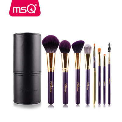 MSQ 8Pcs Makeup Brushes Set Powder Foundation Eyeshadow Eyebrow Lip Blush Bag