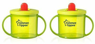 Tommee Tippee Essentials Free Flow Cup Green Baby Sips 190ml X 2 A12