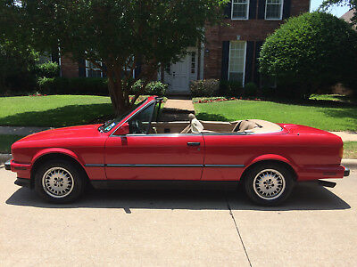 1990 BMW 3-Series  BMW 325I  Series Convertible Red (great shape - Dallas, TX)