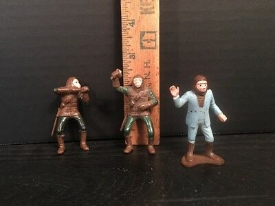 "Lot Of 3 Planet Of The Apes 2.3"" Plastic Figures Vintage 1960s Plastic Riders"