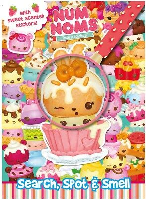 NUM NOMS with STICKERS Activity Book Search Spot & Smell sweet scented stickers!
