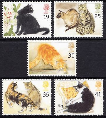 Gb 1995 Cats Mnh Set Of Stamps