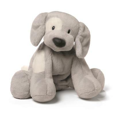 NEW GUND Spunky Grey Puppy Musical Keywind - 25cm from Purple Turtle Toys