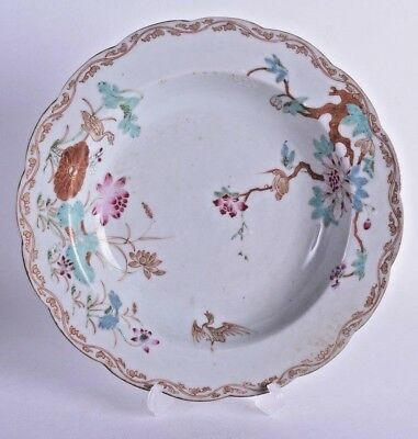 early 18th cent chinese export famille rose porcelain dish plate bowl yongzheng