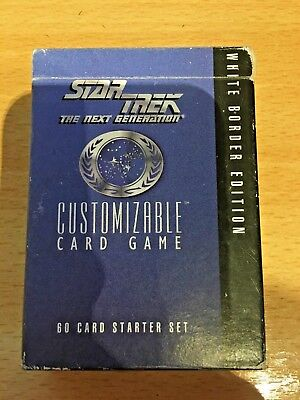 Star Trek Customizable Card Game - 60 Card Starter Set - White Border Edition