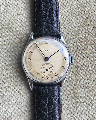 TELL - Herrenuhr 33 mm Schweiz ca. 1940