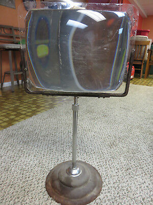 Rare 1950's tv magnifier adjustable on stand