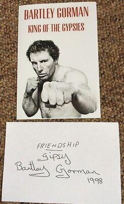 Bartley Gorman Signed PP 6x4 Photo King Of The Gypies Bare Knuckle Boxing Boxer