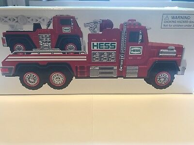 NIB 2015 Hess Collectible Toy Fire Truck & Ladder Rescue