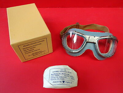 Chas. Fischer Boxed An-6530 Flying Goggles W/one Piece Cushion