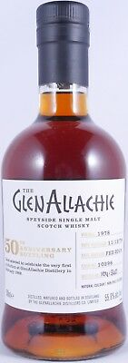 GlenAllachie 1978 39 Years Sherry Butt 10296 50th Anniversary Whisky 55,9% RARE