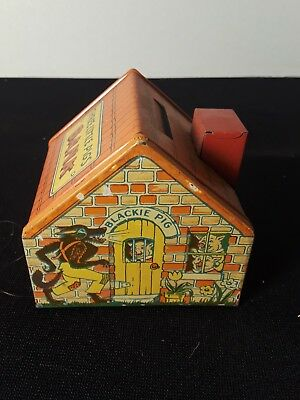 Vintage J Chein & Co Tin Three Little Pigs House Bank Coin Bank