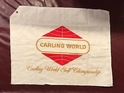 1960's Carling World golf / bar towel, never used