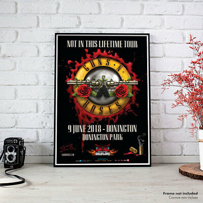 Guns N Roses | Donington Concert Not in this Lifetime Tour 2018, Fine Art Poster