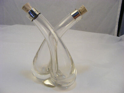 Double Oil bottle with silver rims, William Henry Sparrow