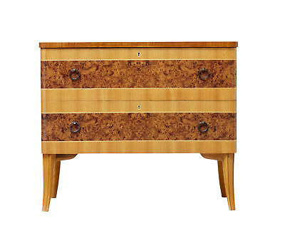 20Th Century Art Deco Inspired Scandinavian Birch Chest Of Drawers