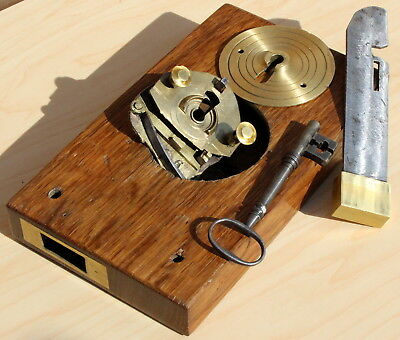 John Young's Patent Stock Lock, 1825. No. 5171, with Key.