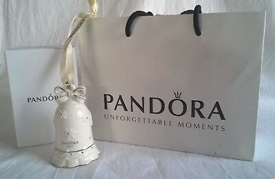 Limited Edition Pandora 2017 Porcelain Christmas Bell - Boxed P176AW001