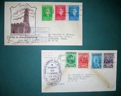 1947 and 1949 FIRST DAY COVERS FROM ISLAND 90 MILES SOUTH OF FLORIDA, EXCELLENT!