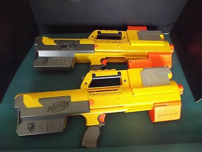 Nerf N-Strike Deploy CS-6 lot of 2 with Clips and Tactical Red Light + 80 Darts