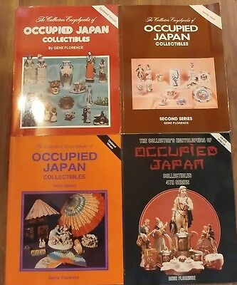 Lot of 4 Collector's Encyclopedia of Occupied Japan by Gene Florence Books 1990s