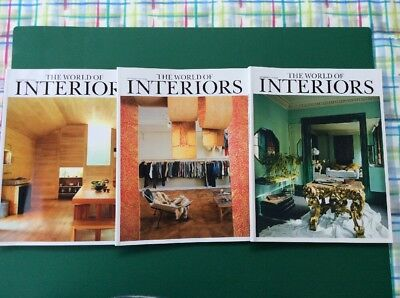 Magazines. -World Of Interiors. - 3 Glossy  Copies. - 2017 - Excellent Condition