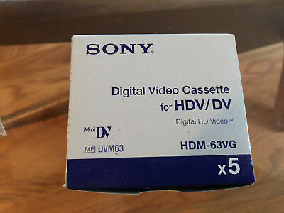 Box of 8 Sony Mini dvcpro tape HDM-63VG  BRAND  SEALED NEW IN BOX!