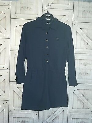 Girls navy NEXT long sleeve playsuit age 10 years