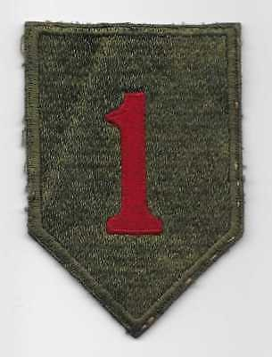 Original WW2 US made, D-Day 1st Infantry Division patch -NICE WHITEBACK -US Army
