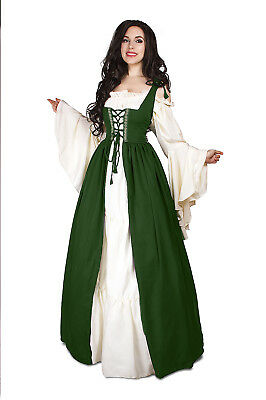 Renaissance Medieval Irish Costume Hunter Over Dress ONLY Fitted Bodice 2xl/3xl