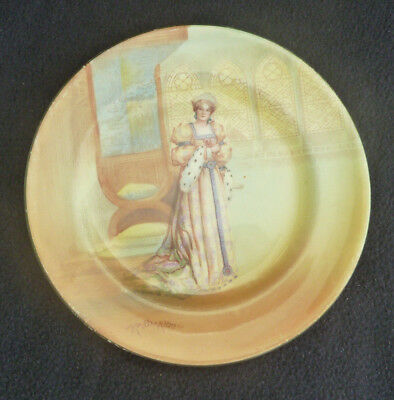 Vintage Royal Doulton Cabinet 18 cm Plates Series Ware Shakespeare Katherine