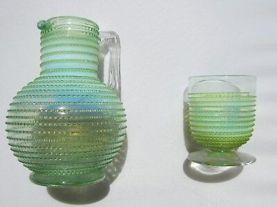 Artglass pitcher & tumbler set